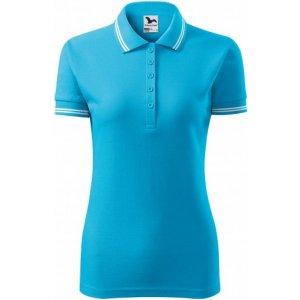 Dámské triko s límečkem MALFINI URBAN 220 TYRKYSOVÁ