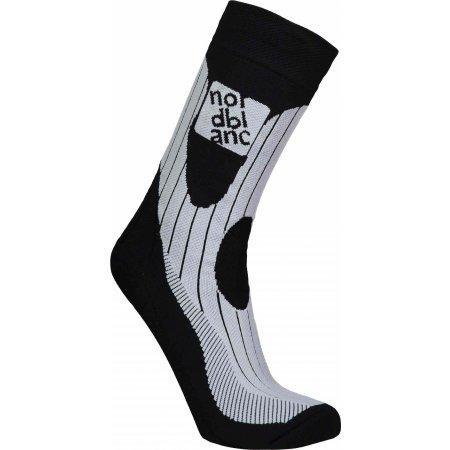 Sportovní kompresní ponožky NORDBLANC NBSX16378 CRYSTAL ČERNÁ