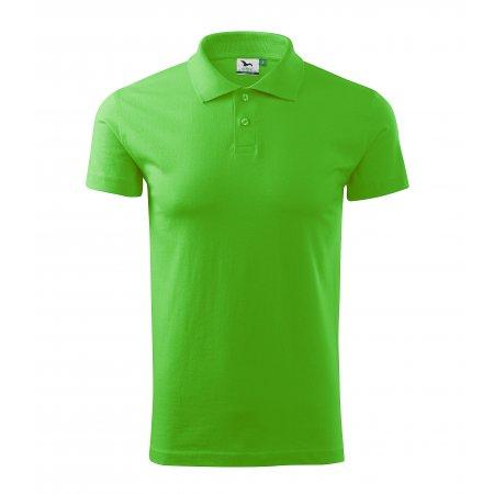 Pánské triko s límečkem MALFINI SINGLE J. 202 APPLE GREEN