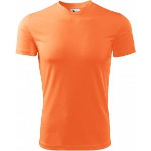 Pánské funkční triko MALFINI FANTASY 124 NEON MANDARINE