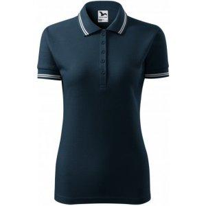 Dámské triko s límečkem MALFINI URBAN 220 NÁMOŘNÍ MODRÁ