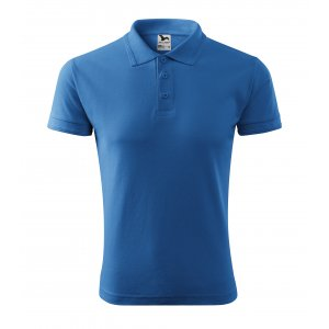 Pánské triko s límečkem MALFINI PIQUE POLO 203 AZUROVĚ MODRÁ