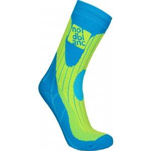 Sportovní kompresní ponožky NORDBLANC NBSX16378 MODRÁ