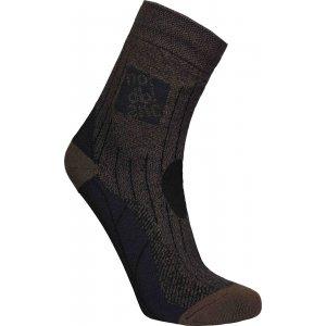 Ponožky NORDBLANC NBSX16379 TMAVĚ HNĚDÝ MELÍR
