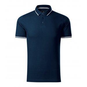 Pánské triko s límečkem MALFINI PREMIUM PERFECTION PLAIN 251 NÁMOŘNÍ MODRÁ