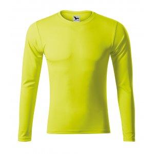 Pánské funkční triko s dlouhým rukávem MALFINI PRIDE 168 NEON YELLOW