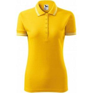 Dámské triko s límečkem MALFINI URBAN 220 ŽLUTÁ