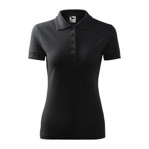 Dámské triko s límečkem MALFINI PIQUE POLO 210 EBONY GRAY