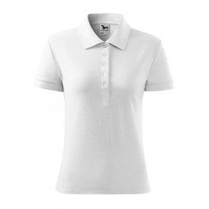 Dámské triko s límečkem MALFINI COTTON 213 BÍLÁ