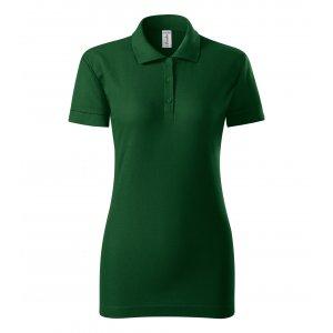 Dámské triko s límečkem PICCOLIO JOY P22 LAHVOVĚ ZELENÁ