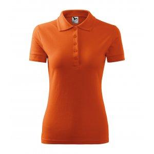 Dámské triko s límečkem MALFINI PIQUE POLO 210 ORANŽOVÁ