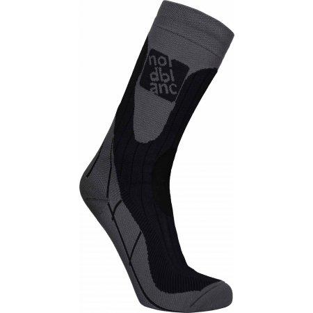 Sportovní kompresní ponožky NORDBLANC NBSX16378 GRAFITOVÝ MELÍR
