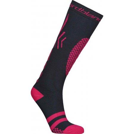 Lyžařské kompresní ponožky NORDBLANC NBSX16380 RŮŽOVĚ ŠEDÁ