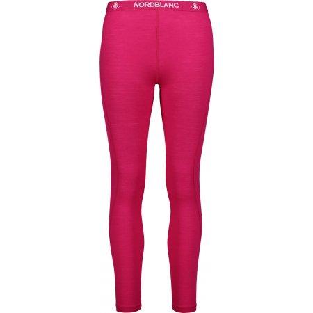 Dámské termo kalhoty MERINO NORDBLANC NBWFL6874 RŮŽOVÁ