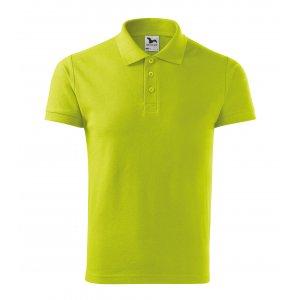 Pánské triko s límečkem MALFINI COTTON 212 LIMETKOVÁ
