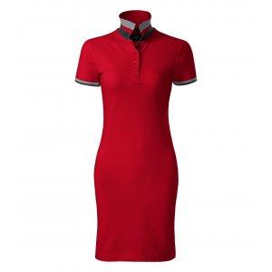 Dámské šaty s límečkem MALFINI PREMIUM DRESS UP 271 FORMULA RED