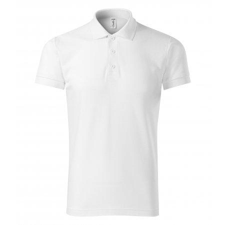 Pánské triko s límečkem PICCOLIO JOY P21 BÍLÁ