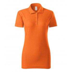 Dámské triko s límečkem PICCOLIO JOY P22 ORANŽOVÁ