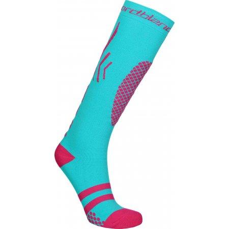Lyžařské kompresní ponožky NORDBLANC NBSX16380 TYRKYSOVÁ