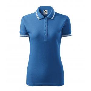 Dámské triko s límečkem MALFINI URBAN 220 AZUROVĚ MODRÁ