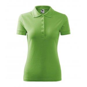 Dámské triko s límečkem MALFINI PIQUE POLO 210 TRÁVOVĚ ZELENÁ