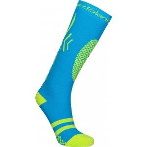 Lyžařské kompresní ponožky NORDBLANC NBSX16380 MODRÁ
