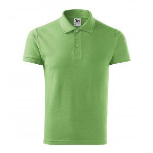 Pánské triko s límečkem MALFINI COTTON 212 TRÁVOVĚ ZELENÁ