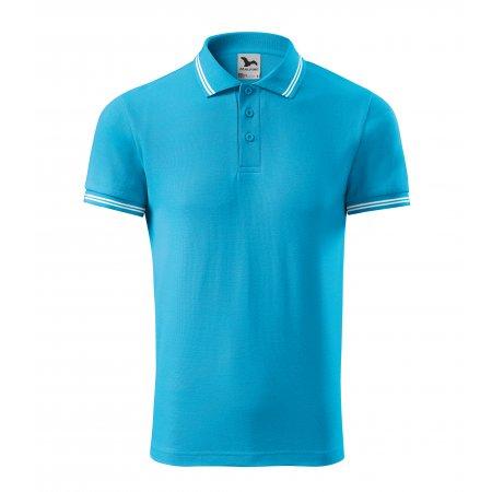 Pánské triko s límečkem MALFINI URBAN 219 TYRKYSOVÁ