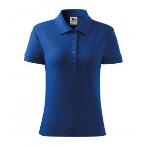 Dámské triko s límečkem MALFINI COTTON 213 KRÁLOVSKÁ MODRÁ