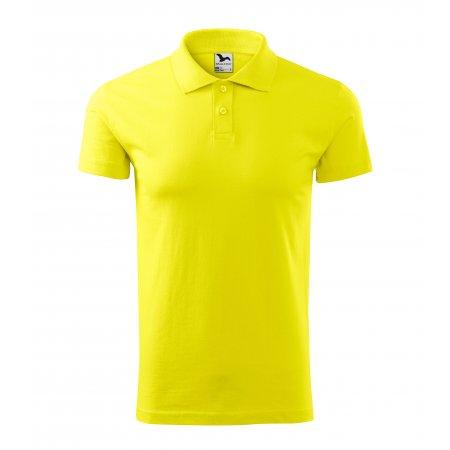 Pánské triko s límečkem MALFINI SINGLE J. 202 CITRONOVÁ