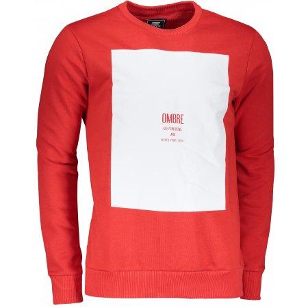 Pánská mikina OMBRE AB1045 RED