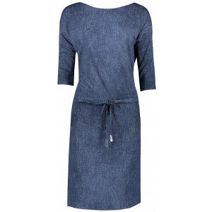 Dámské šaty NUMOCO A13-77 TMAVĚ MODRÝ JEANS