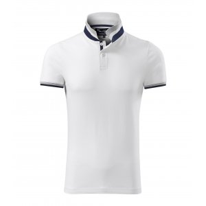 Pánské triko s límečkem MALFINI PREMIUM COLLAR UP 256 BÍLÁ