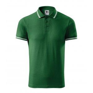 Pánské triko s límečkem MALFINI URBAN 219 LAHVOVĚ ZELENÁ
