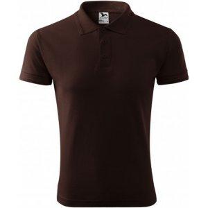 Pánské triko s límečkem MALFINI PIQUE POLO 203 KÁVOVÁ