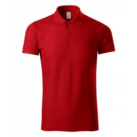 Pánské triko s límečkem PICCOLIO JOY P21 ČERVENÁ