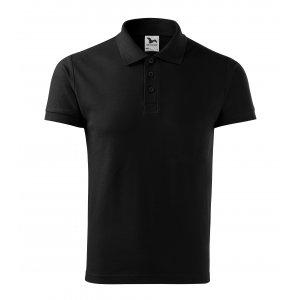 Pánské triko s límečkem MALFINI HEAVY 215 ČERNÁ