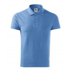 Pánské triko s límečkem MALFINI COTTON 212 NEBESKY MODRÁ