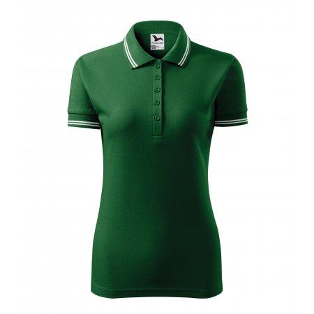 Dámské triko s límečkem MALFINI URBAN 220 LAHVOVĚ ZELENÁ
