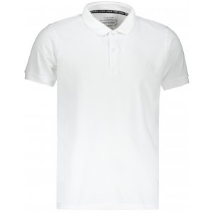 Pánské triko s límečkem OMBRE AS1048 WHITE