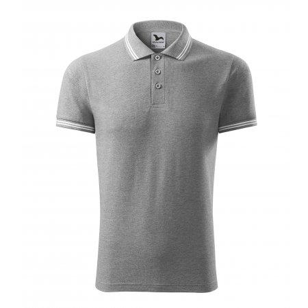 Pánské triko s límečkem MALFINI URBAN 219 TMAVĚ ŠEDÝ MELÍR