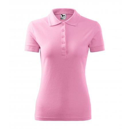 Dámské triko s límečkem MALFINI PIQUE POLO 210 RŮŽOVÁ