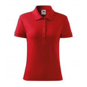 Dámské triko s límečkem MALFINI HEAVY 216 ČERVENÁ