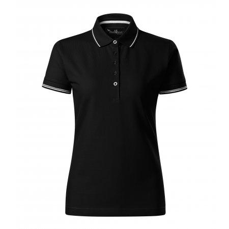 Dámské triko s límečkem MALFINI PREMIUM PERFECTION PLAIN 253 ČERNÁ
