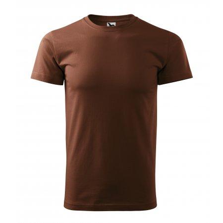 Pánské triko MALFINI HEAVY NEW 137 ČOKOLÁDOVÁ
