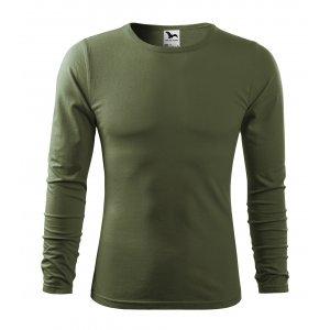 Pánské triko s dlouhým rukávem MALFINI FIT-T LS 119 KHAKI