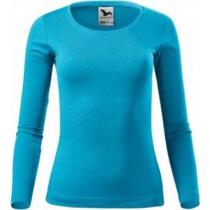 Dámské triko s dlouhým rukávem MALFINI FIT-T LS 169 TYRKYSOVÁ