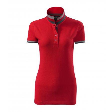 Dámské triko s límečkem MALFINI PREMIUM COLLAR UP 257 FORMULA RED