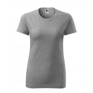 Dámské triko MALFINI CLASSIC NEW 133 TMAVĚ ŠEDÝ MELÍR
