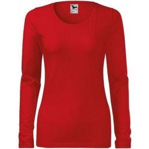 Dámské triko s dlouhým rukávem MALFINI SLIM 139 ČERVENÁ